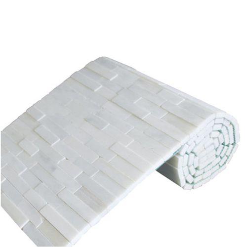 Mozaïek tegel Brickstone rol wit 35x150cm