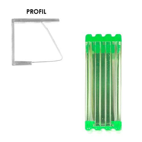 Tafelzeiklem groen - 4 stuks