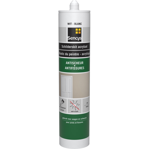 Sencys schilderskit anti-scheur wit 310ml