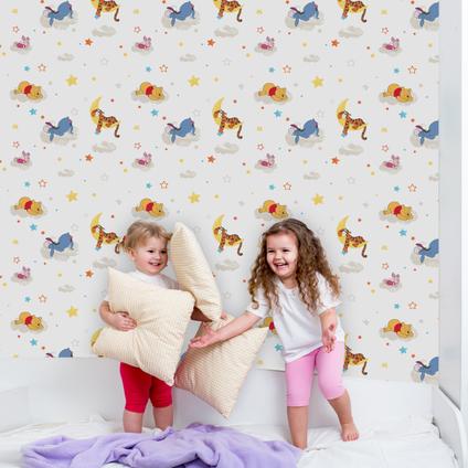 Disney Papierbehang Winnie the Pooh Rise & shine meerkleurig