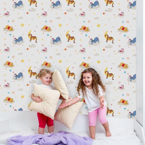 Papier peint Disney Winnie the Pooh Rise & shine multicolore