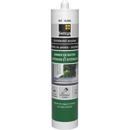 Sencys acrylaatmastiek bestand tegen directe regen wit 310 ml