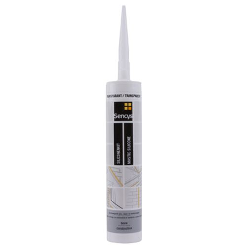 Mastic silicone Sencys construction transparent 310ml