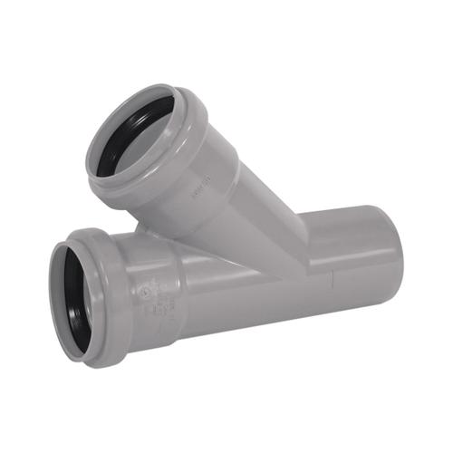 Martens T-stuk  met manchet 'MVV - 45 graden' PVC diam 40 mm