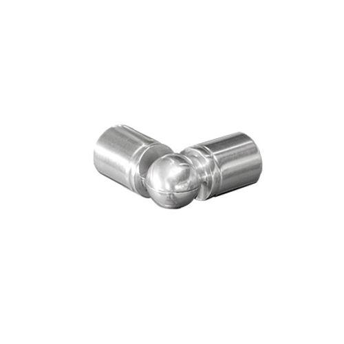 Jonction articulée Sogem 'R10' aluminium - 4 pcs