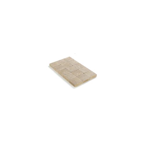 Pavé tambouriné Coeck 15x15x4cm sable-jaune