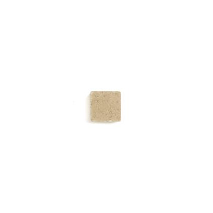 Coeck kassei zandgeel getrommeld 15x15x4cm