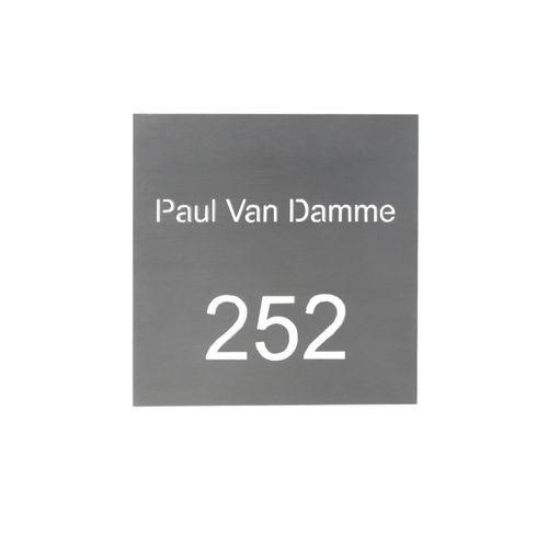 Gravure VASP '18/18' laser numéro et nom