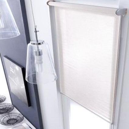 Madeco rolgordijn 'Must Mesh' lichtdoorlatend wit 160 x 250 cm