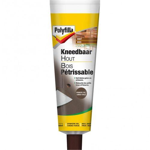 Pâte pour bois pétrissable Polyfilla chêne foncé 75 gr