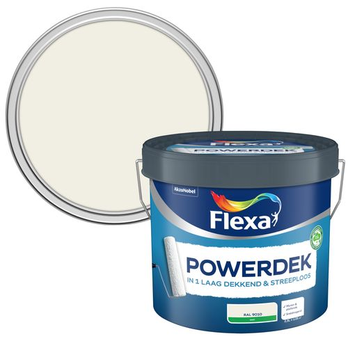 Flexa muurverf Powerdek Muren & Plafonds 9010 2,5L