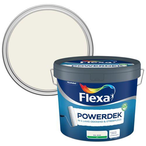 Flexa muurverf Powerdek Muren & Plafonds 9010 10L