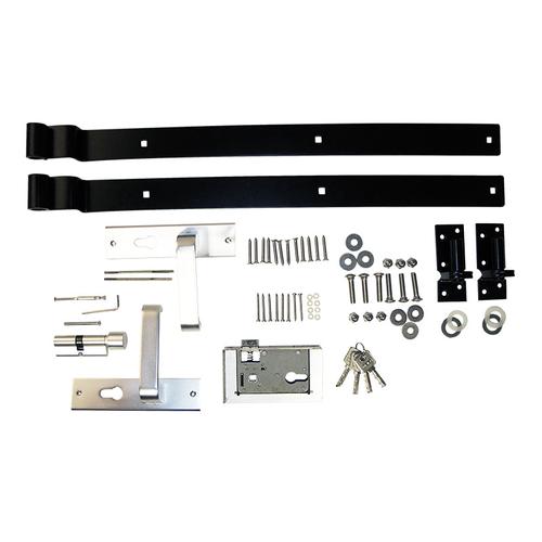 Elephant deurbeslag Basic staal en aluminium voor Basic tuindeur 72x72x150mm
