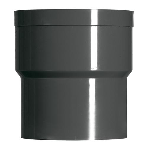 Martens verbindingsstuk PVC antraciet 80 mm