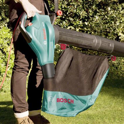 Bosch elektrische bladblazer ALS25 met opvangzak en handschoenen