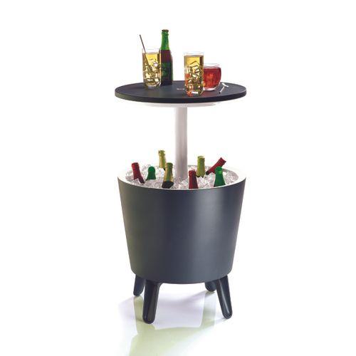 Keter tuintafel 'Cool bar' polypropyleen antraciet Ø 49,5 cm