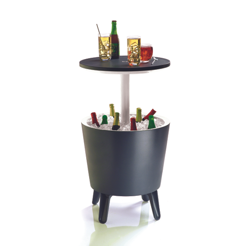 Table de jardin Keter 'Cool bar' polypropylène anthracite Ø 49,5 cm