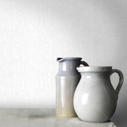 Sencys papier peint à peindre Emboss blanc