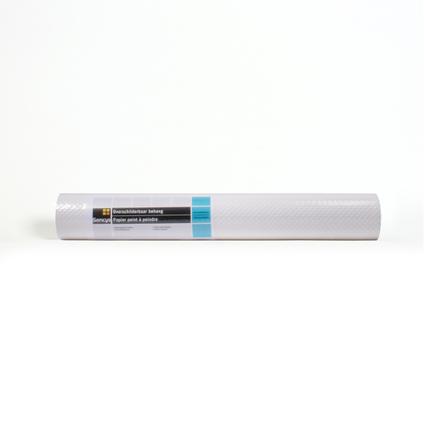 Sencys overschilderbaar papierbehang Weefsel wit
