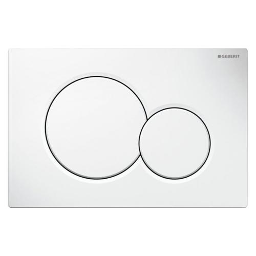 Plaque de commande Geberit Sigma pour batichasse UP320 blanc 16,4x24,6cm