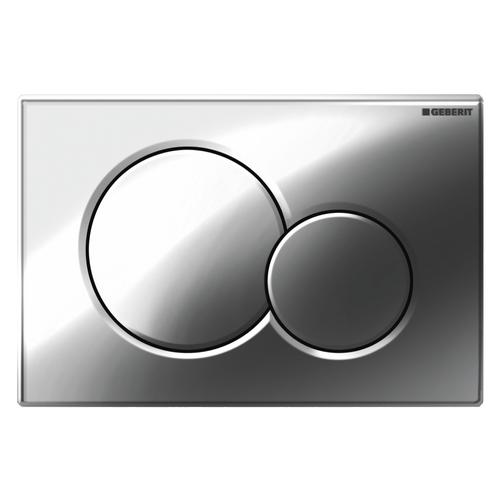 Plaque de commande Geberit Sigma pour batichasse UP320 chromé brillant 16,4x24,6cm