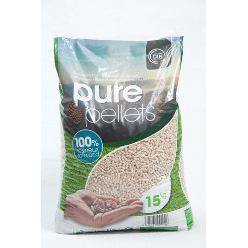 Pellets de bois 'Din Plus' Pure Pellets 15kg
