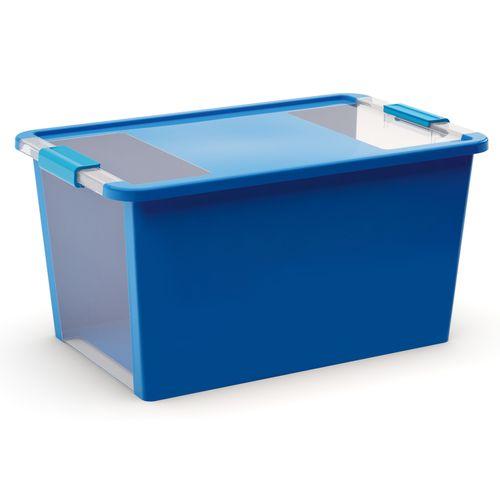 Boîte de rangement Kis 'Duo' bleu 40L