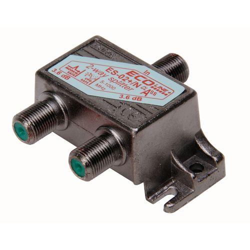 Kopp coax F-connector verdeler 1-in-2uit