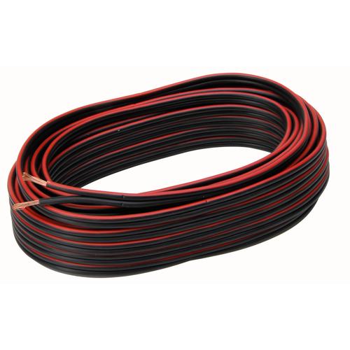 Kopp luidsprekersnoer 2x1,5mm² zwart/rood 10m