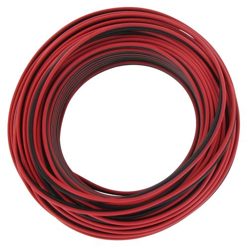 Kopp luidsprekersnoer 2x0,5mm² zwart/rood 25m