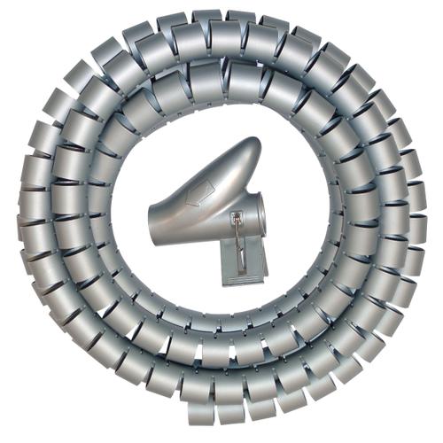 Kopp kabelverslinder 20mm zilver 2m