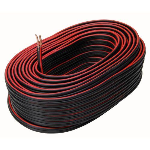 Kopp luidsprekersnoer 2x1,5mm² zwart/rood 20m