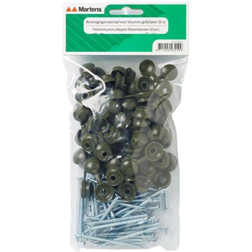 Martens bitumen golfplaatnagel groen p/50st