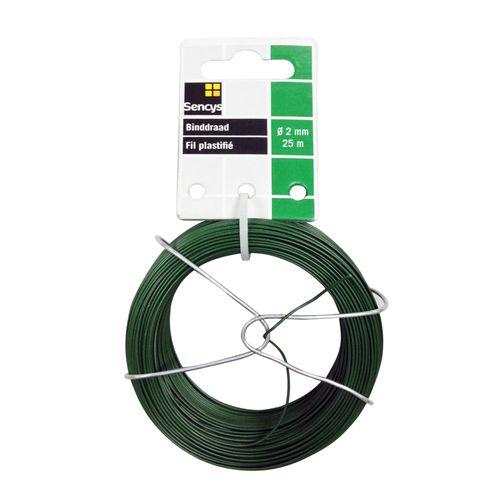 Sencys binddraad groen staal Ø 2 mm x 25 m
