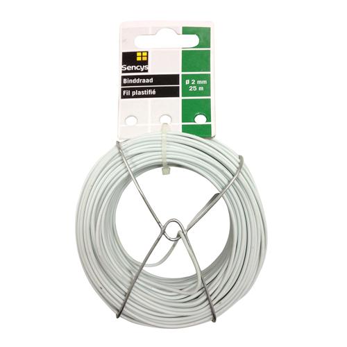 Sencys binddraad wit staal Ø 2 mm x 25 m