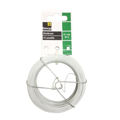 Sencys binddraad wit staal Ø 1 mm x 50 m