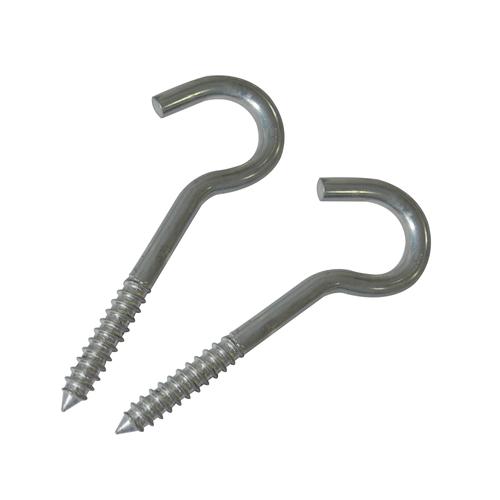 Crochet à visser Sencys acier Ø 9,4 mm x 80 mm - 2 pcs
