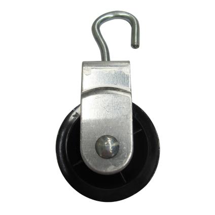 Sencys katrol aluminium grijs Ø 6 mm x 40 mm