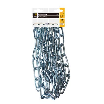 Sencys gewichtsketting staal zilver 6 mm x 4 m