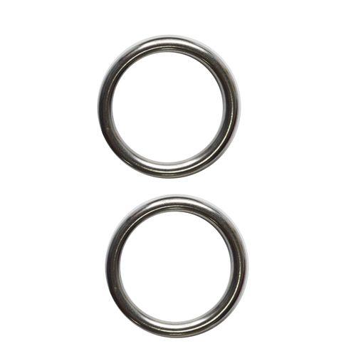 Sencys gesloten ring RVS Ø 6 x 52 mm - 2 stuks
