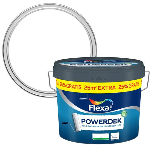 Flexa muurverf Powerdek Muren & Plafonds 10L + 25%