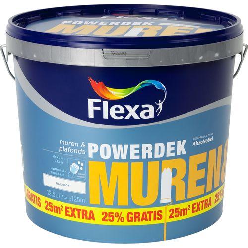 Flexa muurverf Powerdek Muren & Plafonds 9001 10L + 25%