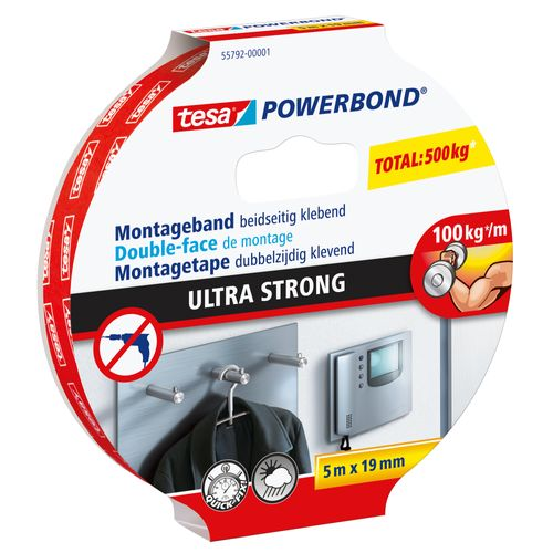 Double face de montage Tesa 'Ultra Strong' 5mx1,9cm