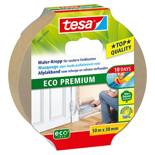 Tessa afplakband voor scherpe en schone verfranden 'Eco Permium' 50mx38mm