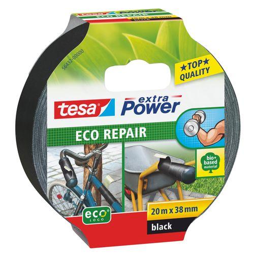 Ruban Adhésif Tesa power Eco Repair ducttape noir 38mmx20m