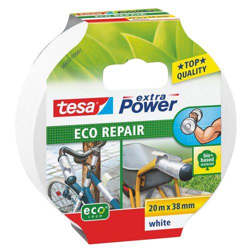 Ruban Adhésif Tesa Extra Power Eco Repair ducttape blanc 38mmx20m