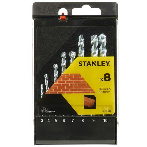 Stanley set van betonboren - 8 stuks