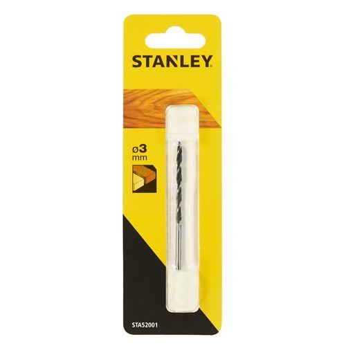 Stanley houtspiraalboor met centreerpunt 3mm