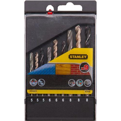 Set de forets Stanley métal,bois et béton - 9 pcs