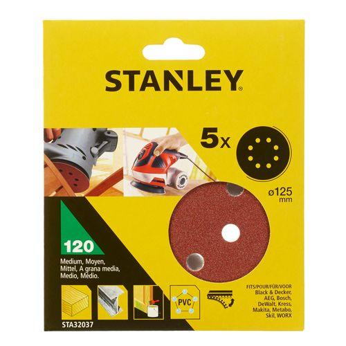 Disque de ponçage Stanley 125mm k120